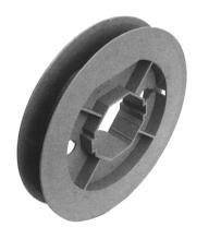 Schiebegurtscheibe für Achtkant-Stahlwelle 50, Ø 190 mm