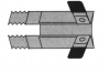 Rollladen-Klemmsicherung, 1 Paar