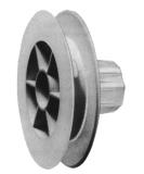 Schnurzugscheibe für Stahlwelle 40 mm, Ø 155 mm